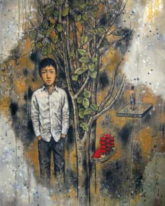 Li Liang_Inside and Outsite-Oil on canvas_120x150cm-Oil on canvas_2013